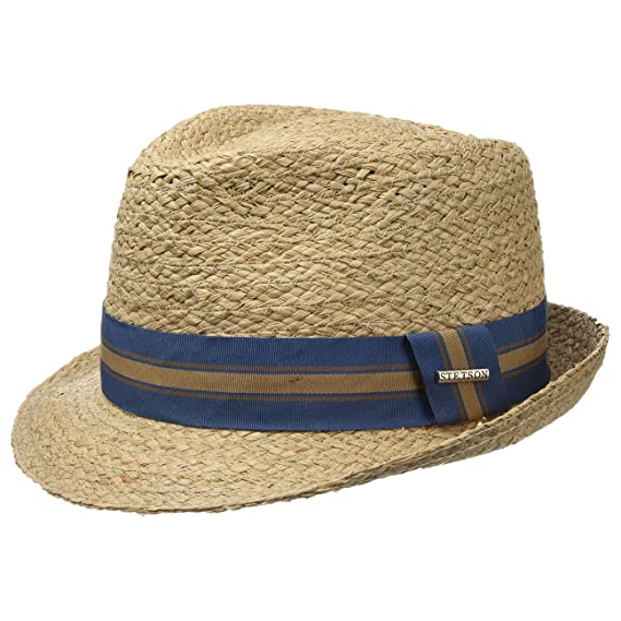 c0474a44e0f5a6 Stetson Mandalo Raffia Trilby Hat Men | Sun Men´s Summer with Grosgrain  Band Spring-Summer | M (56-57 cm) Nature: Amazon.co.uk: Clothing