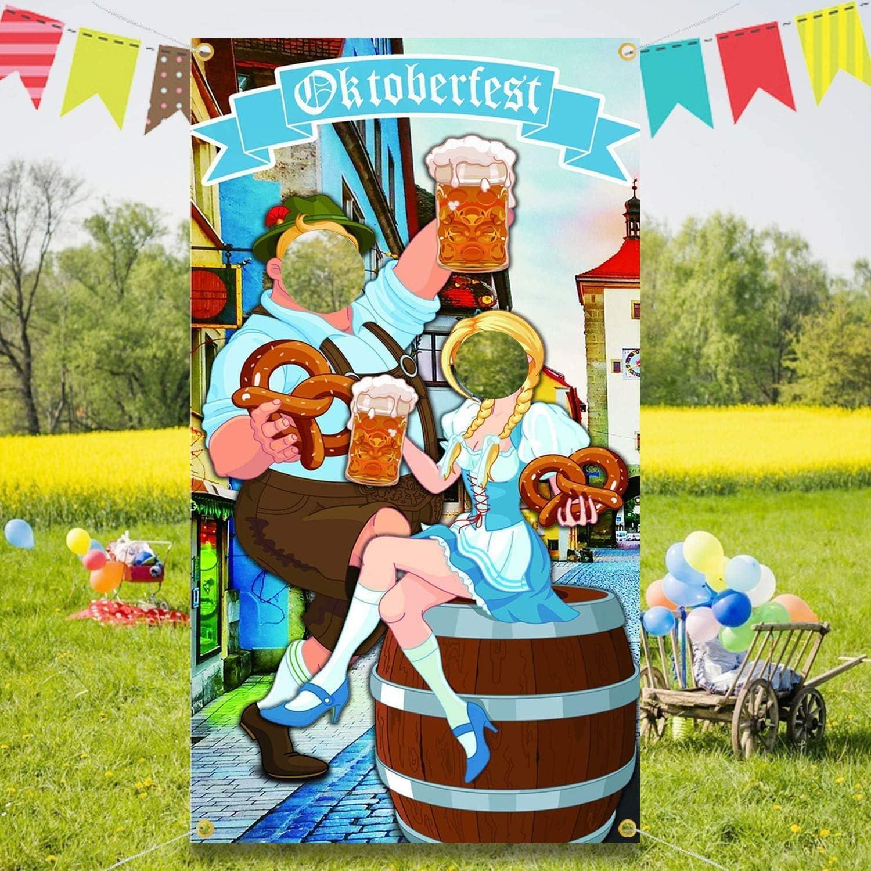 Lustige Oktoberfest Spiel Versorgungen f/ür Bayerisches Bier Festival 1.8 1M Oktoberfest deko Versand Foto Requisit,oktoberfest photo both backdrop Riesiger Stoff Foto Stand Hintergrund