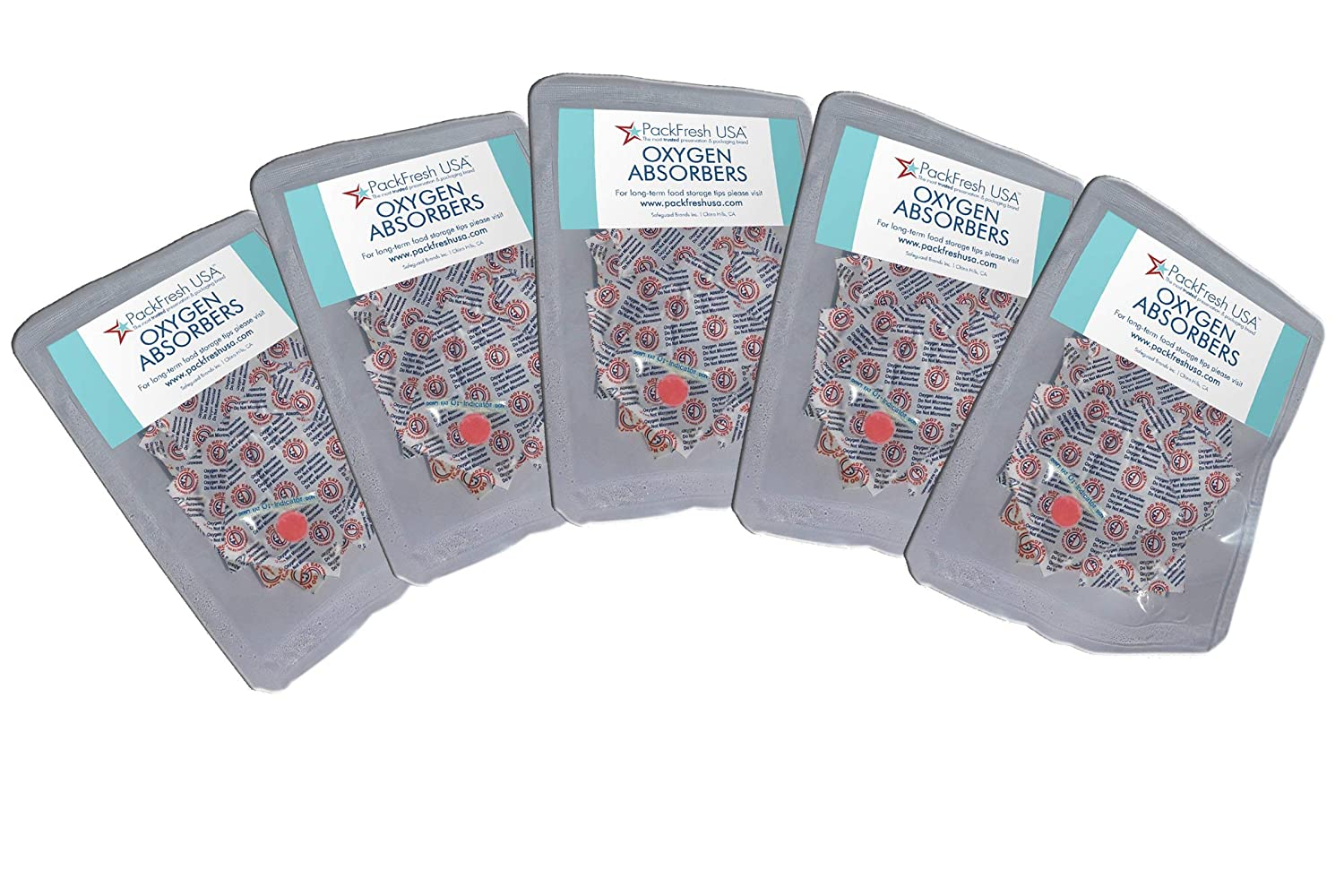 500cc Oxygen Absorbers in 10-packs (5 x 10-Packs) with PackFreshUSA LTFS Guide