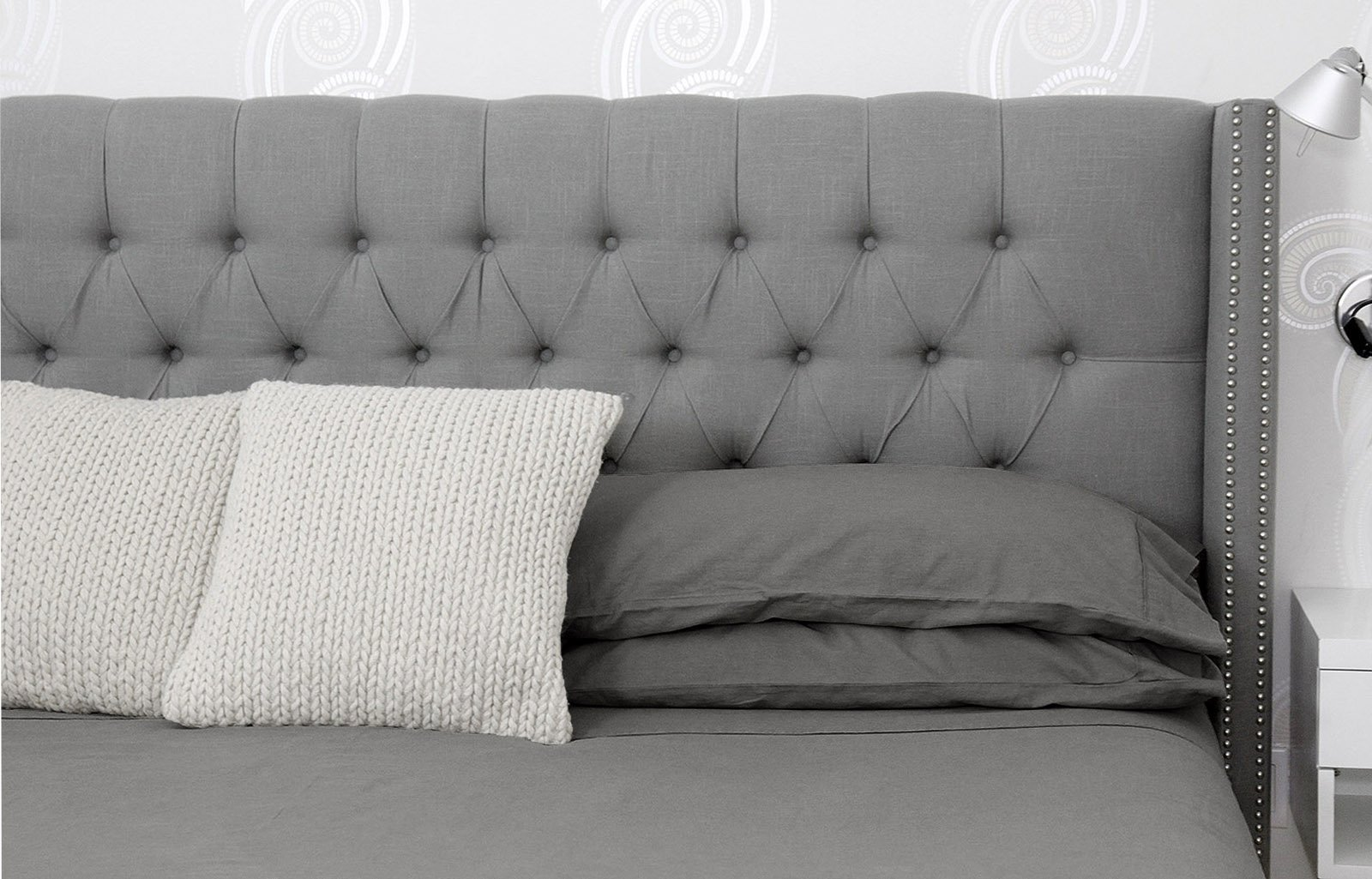 Oasis Fine Linens Vintage Washed Linen Collection (King, Driftwood)