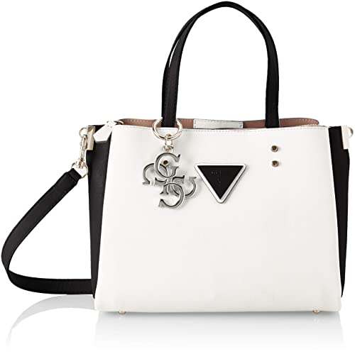 17e19dd62d Guess Jade, Women's Shoulder Bag, Multicolour (White Multi/Wml), 26x20x12