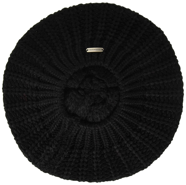 Steve Madden Womens Rib Knit Beret