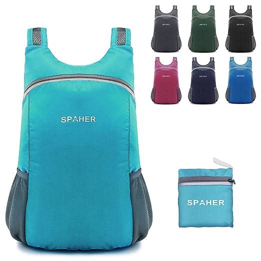 10 opinioni per SPAHER Ultra Leggero Zaino della spalla Trekking Pieghevole Peso Leggero Daypack