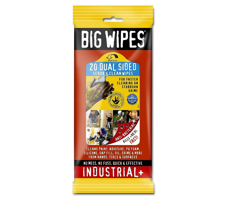 Big Wipes BGW2020 Industrial Anti-Bacterial Wipes, Pack of 80