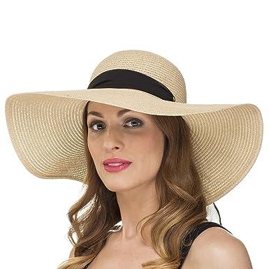 Ladies Womens Summer Shapable Floppy Sun Hat with Chiffon Scarf Tie LS14005  (Black)  Amazon.co.uk  Clothing 58efaa1b628