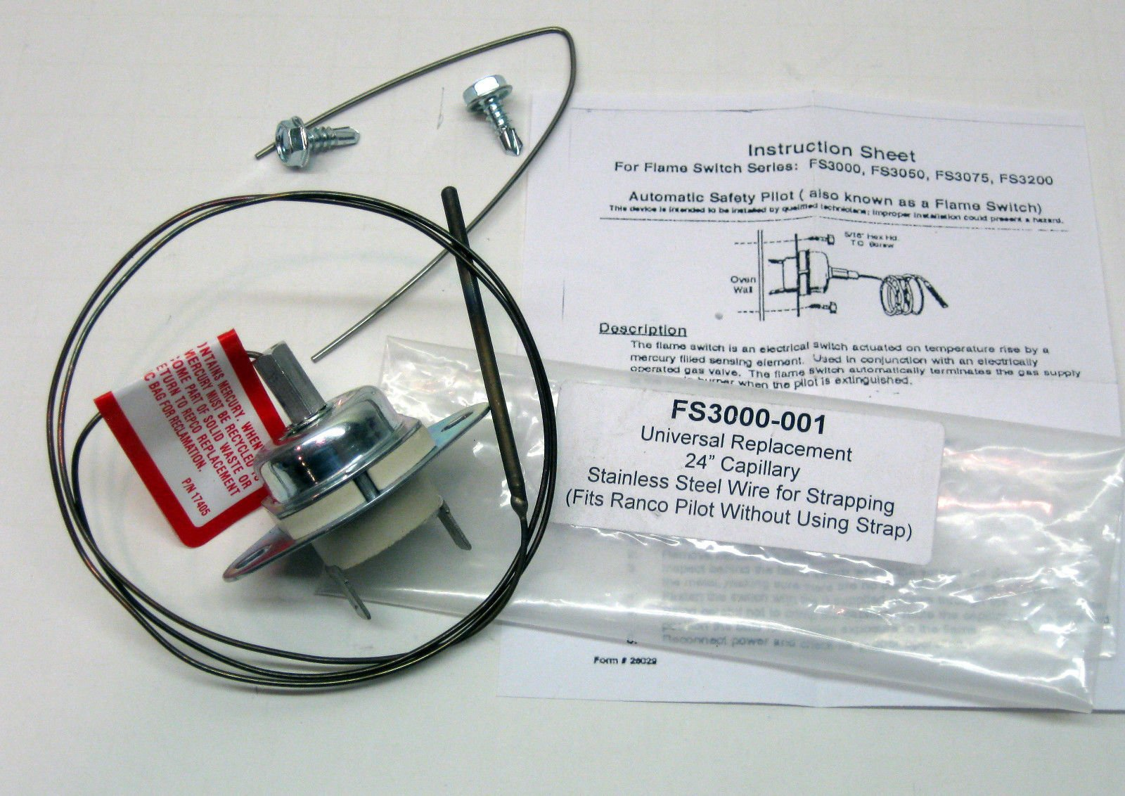 Cooking Appliances Parts FS3000-001 Gas Oven Flame Switch for Ranco Wilco LF2 Harper 6310S0020 6310S0010