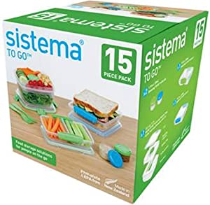 Sistema To Go 15-Piece Food Storage Container Set