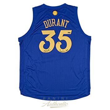 low priced aa6a5 3cde6 Kevin Durant Autographed Warriors Christmas Edition Swingman ...