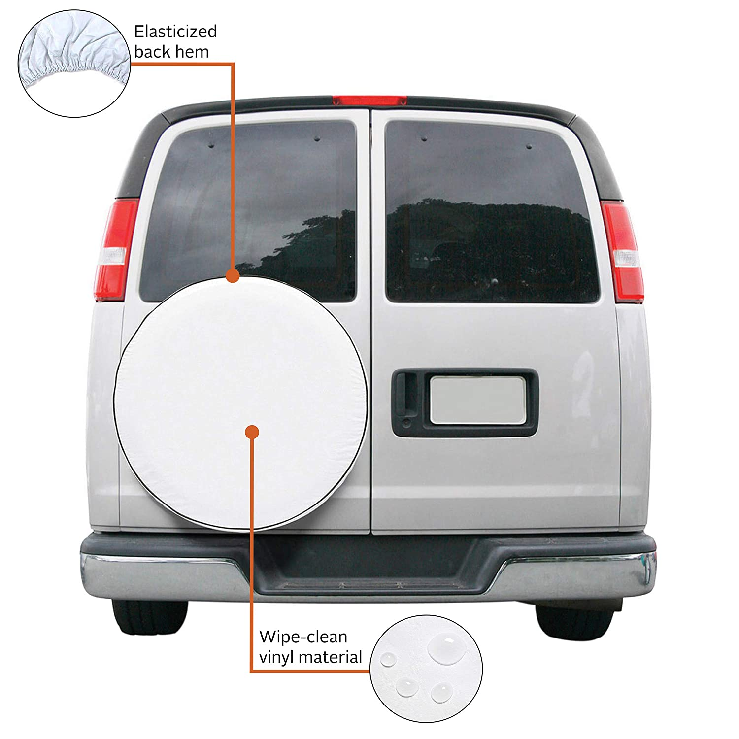 Classic Accessories OverDrive Universal Fit Spare Tire Cover White Large 80-218-042301-00