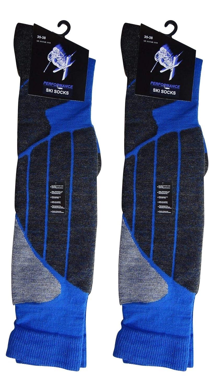 Palleon 2 Paar Unisex Wintersport Kniestr/ümpfe Ski und Snowboard Socken
