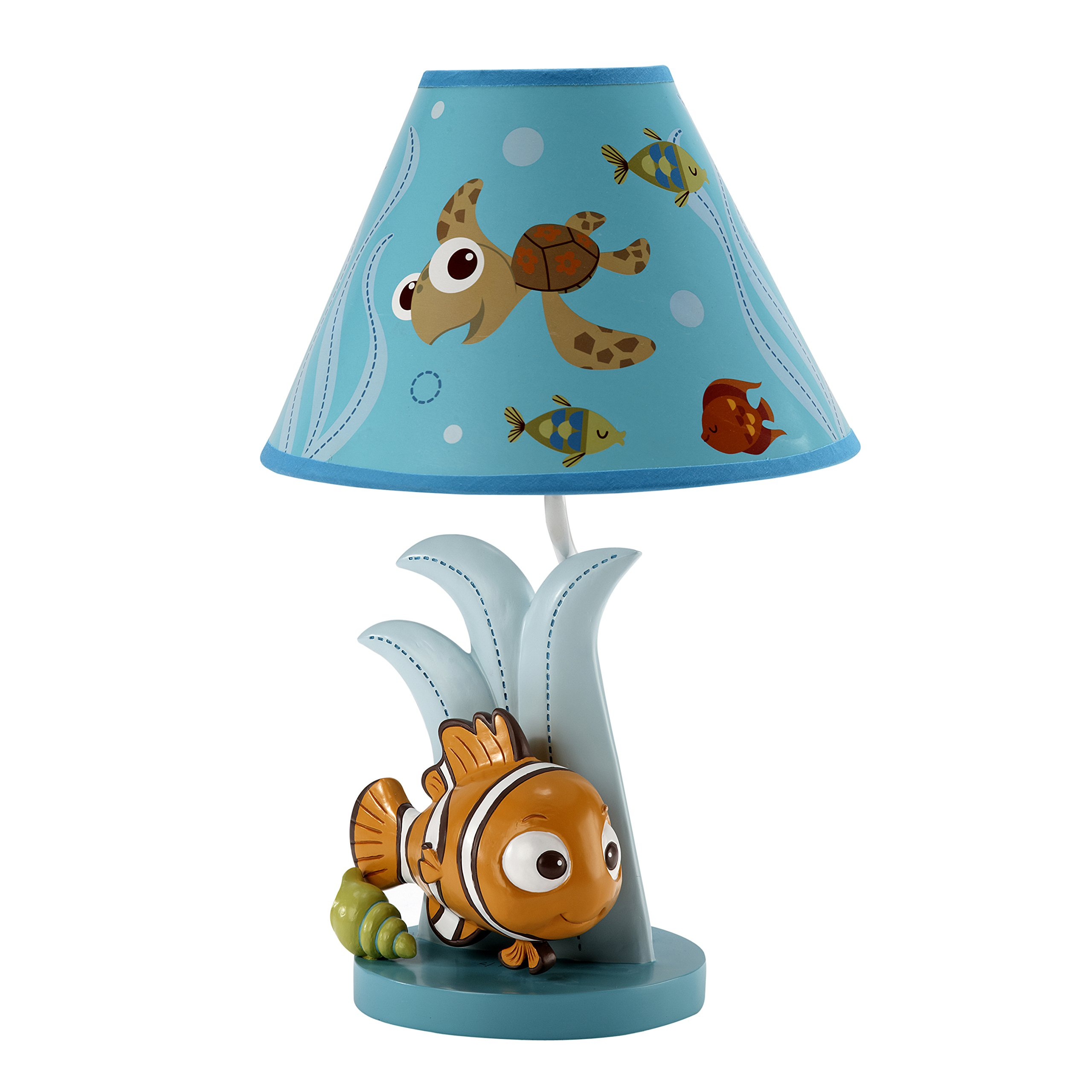 Disney Finding Nemo Lamp Base and Shade, Blue
