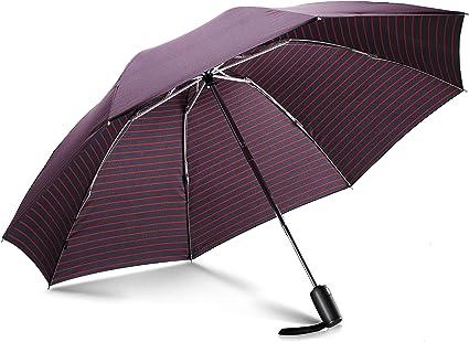 Parapluie Invers/é Pliant Automatique avec Teflon/™ 210T et Protection UV Parapluie Vanquisher Noir avec Poign/ée Ergonomique et Syst/ème de Fermeture Facile Parapluie R/éversible Coupe-Vent
