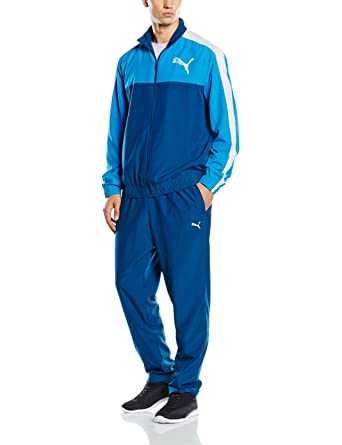 Puma Mens Tracksuit Woven Fun Graphic Training Jacket/Pant Blue S-XL New  83415011