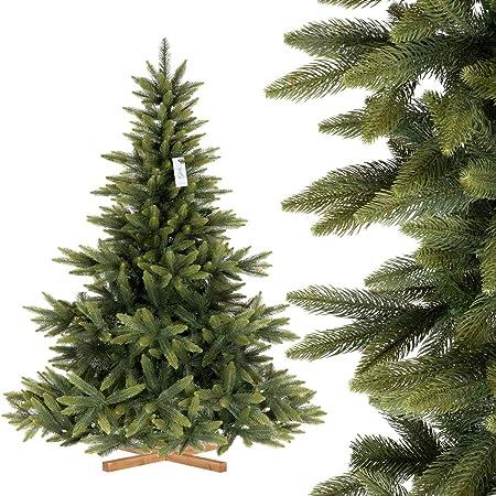 FairyTrees Sapin de Noël Artificiel, Sapin de Nordmann Premium