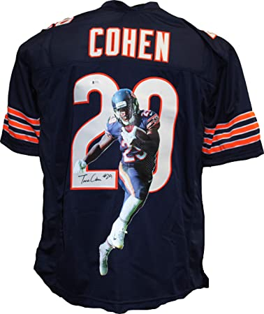 c9940b497 Authentic Tarik Cohen Autographed Signed Custom Image Jersey Beckett COA  Chicago Bears RB