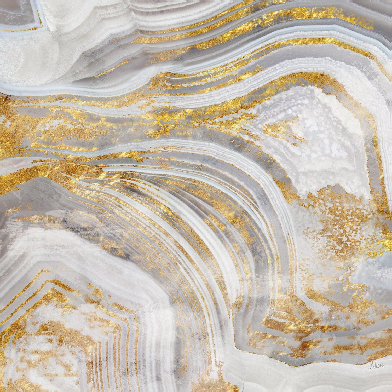 Portfolio Canvas Decor Décor Gallery Wrapped Wall Art, 16x16 Agate Allure I by Nan, 16 x 16