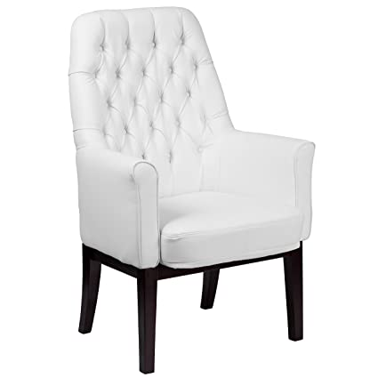 Pleasing Flash Furniture High Back Traditional Tufted White Leather Side Reception Chair Caraccident5 Cool Chair Designs And Ideas Caraccident5Info
