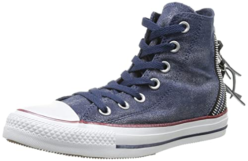 9dd328452a0 Converse Womens Chuck Taylor All Star Femme Sparkle Wash Tri Zip HI Trainers