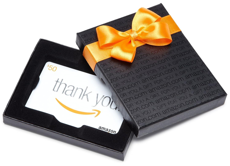 Amazon.com Gift Karte in a Black Gift Kasten (Thank Sie Karte Design)