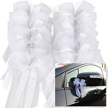 cle de tous pcs lazos de tul blanco para decorar boda silla cestas coche de