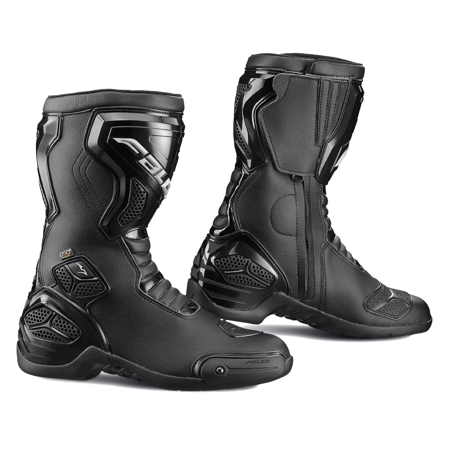 FALCO OXEGEN 2 WTR SPORTS TOURING WATERPROOF D30 MOTORCYCLE BOOTS BLACK 42