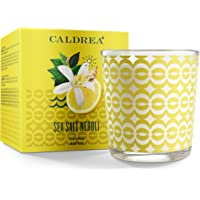 Caldrea Scented Candle, Made with Essential Oils and Other Thoughtfully Chosen Ingredients, 45 Hour Burn Time, Sea Salt…