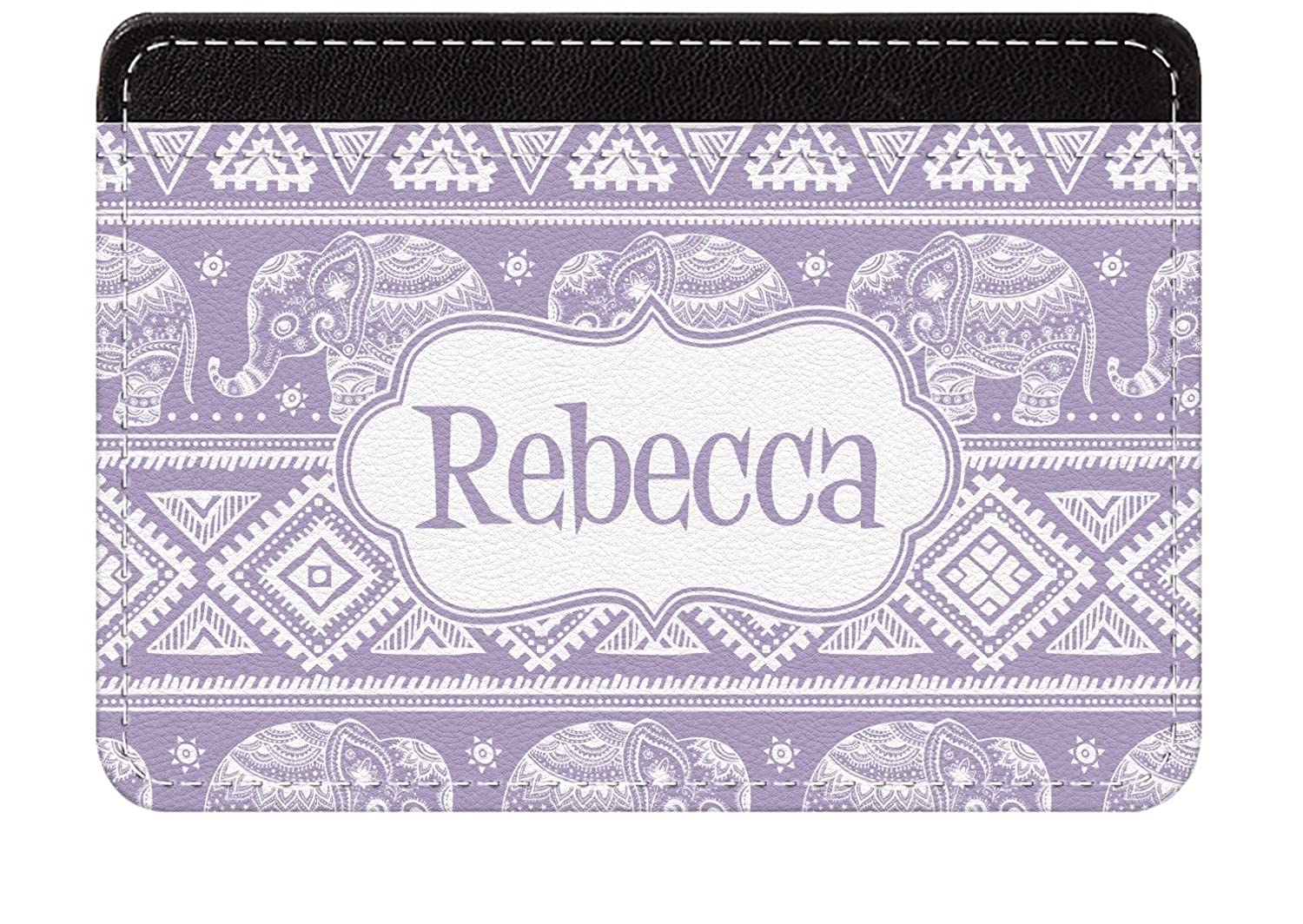 Personalized Baby Elephant Genuine Leather Front Pocket Wallet