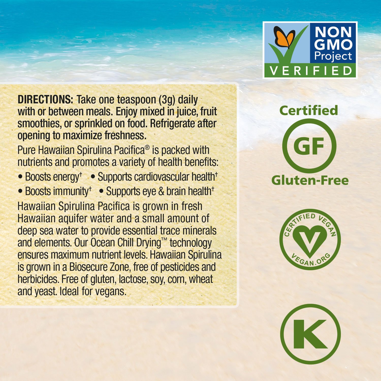 Pure Hawaiian Spirulina Powder 5 lb Bulk Bag – Boosts Energy and Supports Immunity – Vegan, Non GMO – Natural Superfood Grown in Hawaii by Nutrex Hawaii (Image #6)
