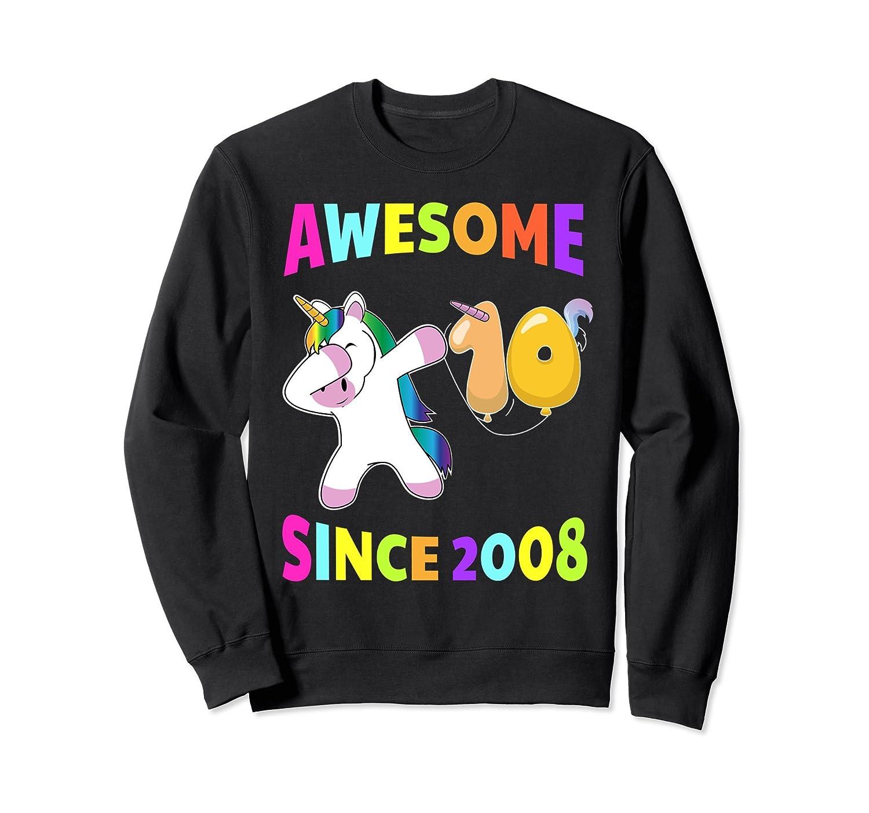 10th Birthday Unicorn Tenth BDay Girls Outfit Sweatshirt-TH
