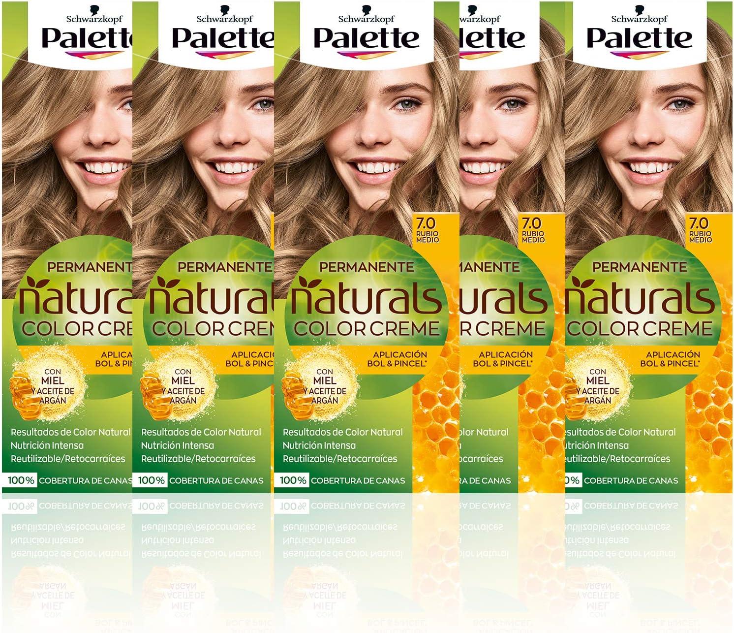 Schwarzkopf Palette Naturals Color Creme - Tono 7 cabello ...