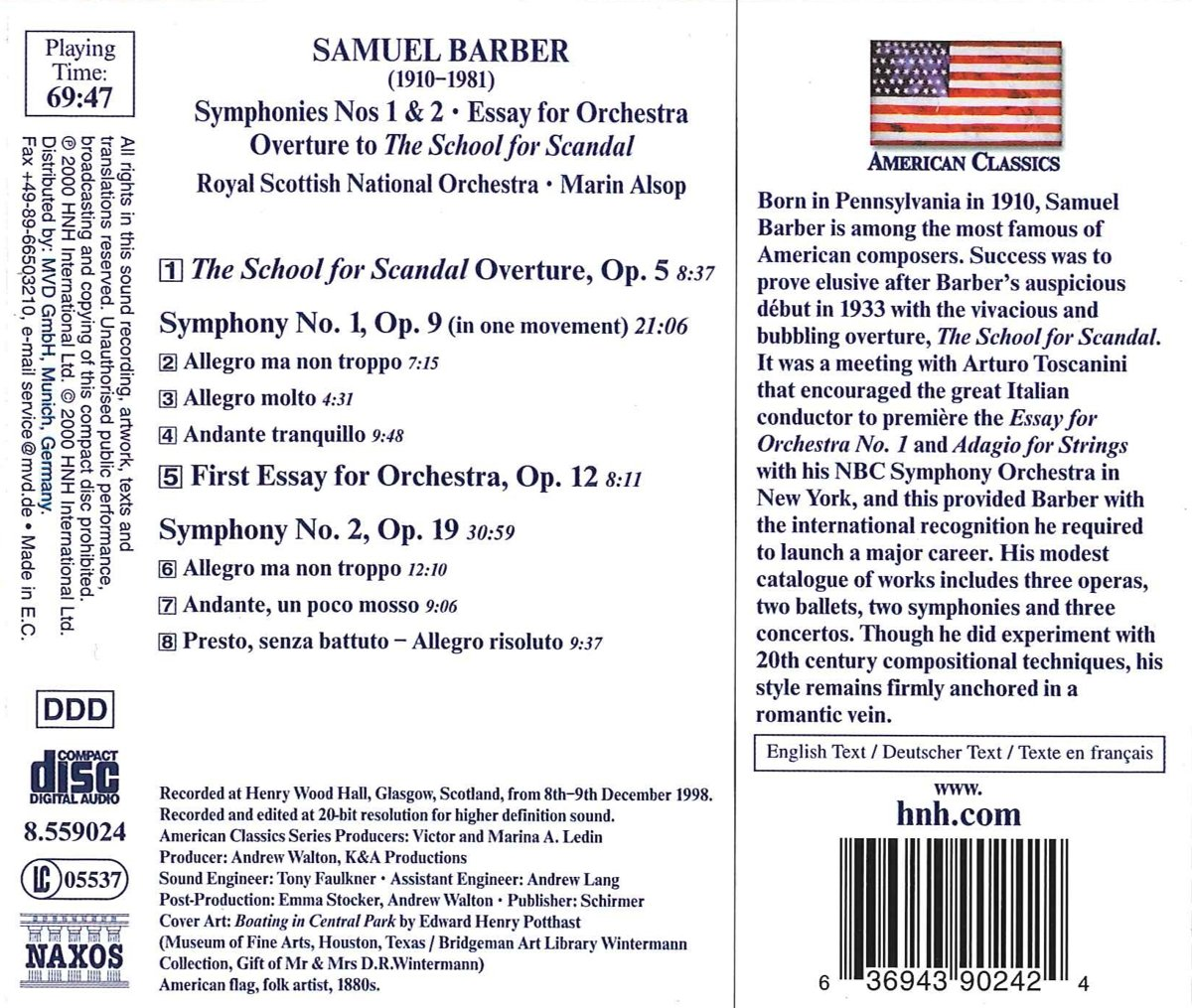 Allegory Of The Cave Summary Essays Samuel Barber Marin Alsop Royal Scottish National Orchestra  Barber  Orchestral Works Vol  Overture The School For Scandal Op    Symphony No Sample Med School Essays also Compare Essays Samuel Barber Marin Alsop Royal Scottish National Orchestra  Descriptive Essay On Food