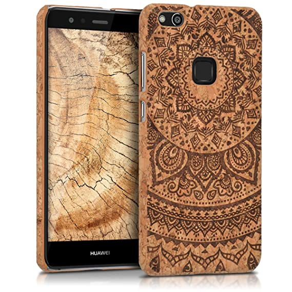 buy online 23fa3 b20f1 Amazon.com: kwmobile cork cover for Huawei P10 Lite - Protective ...