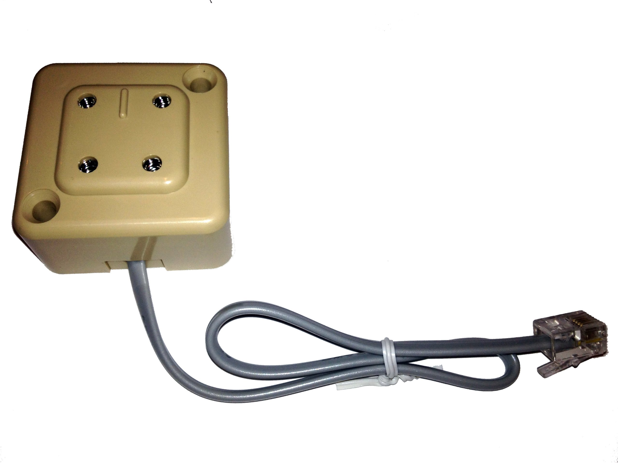 Telephone 4 prong plug to modular adapter RJ-11 Four Prong for Vintage Rotary by SVS LLP