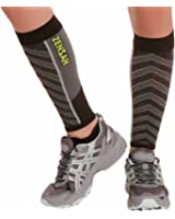 Zensah Featherweight Compression Leg Sleeves – Calf Sleeve for Men and Women – Relieve Shin Splints, Calf Pain – Ultra-light Calf Guard for Running, Basketball, Maternity, Travel, Nurses
