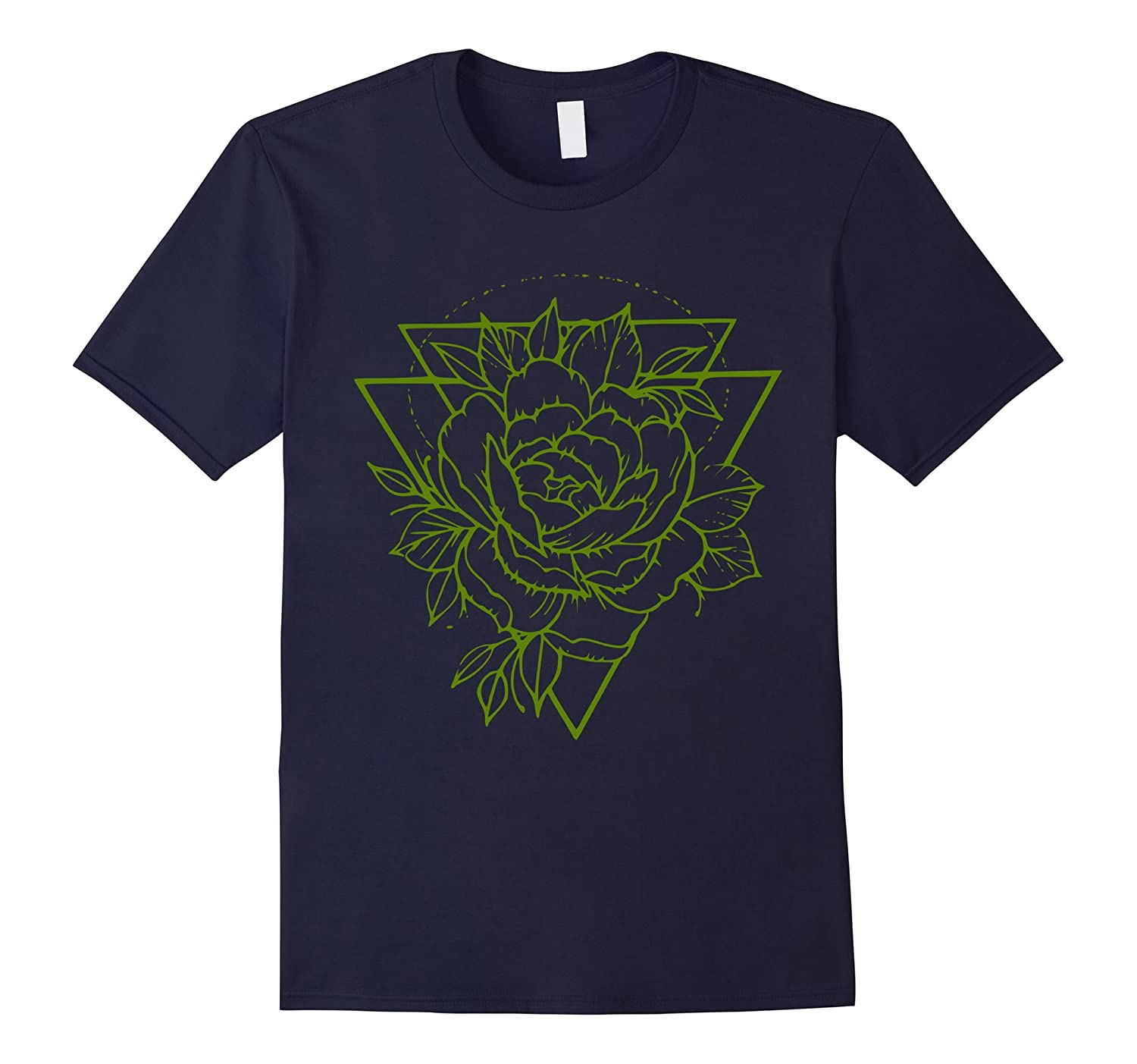 Rose / Leaves / Triangle / Geometric T-Shirt-FL