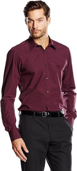 19V69 Camisa Hombre Burdeos 39 cm (15.5