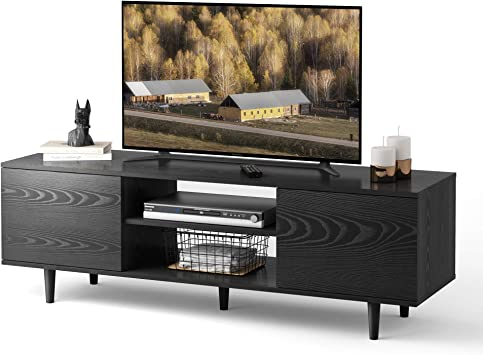 Wlive Tv Stand For 55 50 Inch Flat Screen Tv Mid Century Modern Entertainment Center With Storage Cabinet Media Console For Living Room Electronics