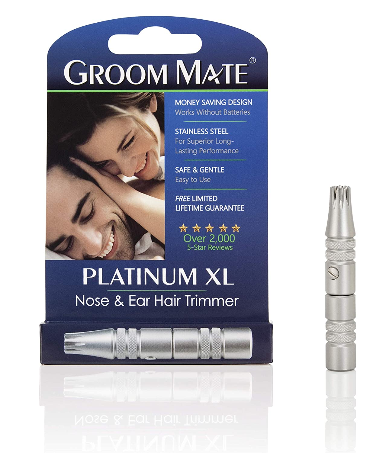 Groom Mate Platinum XL Nose & Ear Hair Trimmer BEI - PHR Systems Limited GMG25420-BRK