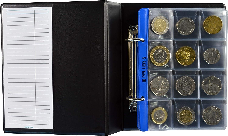 PELLERS Álbum de Monedas para 160 Monedas (Tipo S Álbum). 5+5 ...