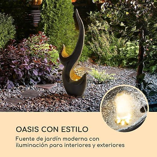 blumfeldt Arcadia Fuente de jardín - Iluminación LED, para Interior y Exterior, 10W, Polirresina, Resistente a Las heladas y a los Rayos UVA, Loopflow, Cable de 10 m, humidificador automático: Amazon.es: Jardín