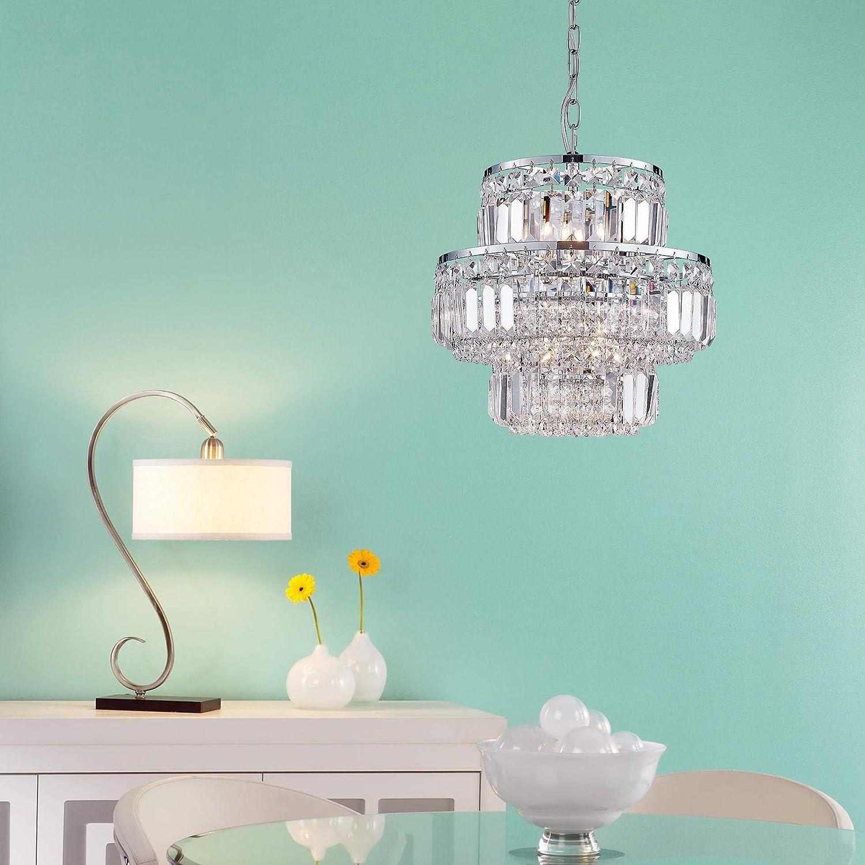 Pendentif moderne lustre en cristal gouttes de pluie d/éclairage plafonnier lampe pour salle /à manger salle de bains chambre /à coucher salon 8 ampoules G9 requis