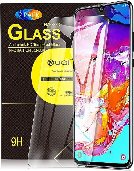 KuGi. para Samsung Galaxy A70 Protector de Pantalla, Cristal Templado [9H Dureza] [Alta Definicion] Protector de Pantalla Diseñado para Samsung Galaxy A70 / Samsung Galaxy A70s (Paquete de 2): Amazon.es: Electrónica