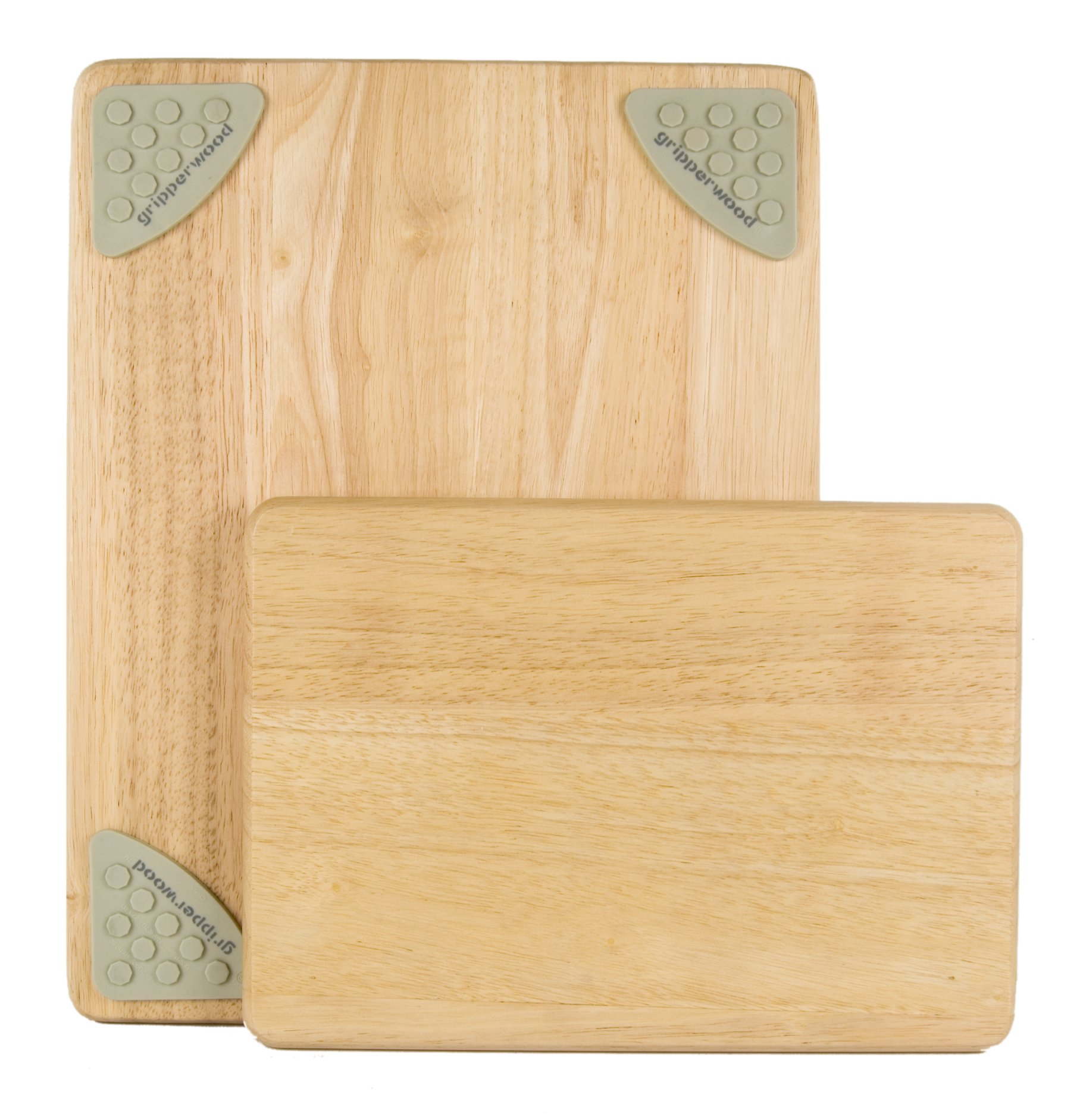 Architec Gripperwood Cutting Boards, Set of 2, Beechwood with Non-slip Gripper Feet, 11 by 8-Inches and 14 by 11-inches by Architec (Image #1)