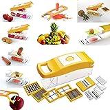 Cierie 12 In 1 Fruit & Vegetable Graters, Slicer, Chipser, Dicer, Cutter Chopper