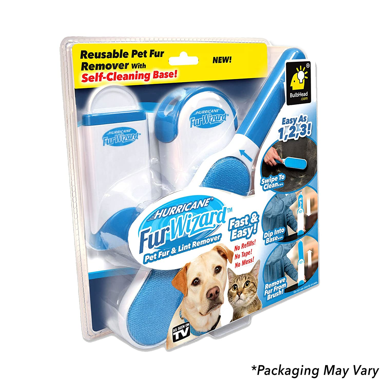 Hurricane Fur Wizard Pet Hair Remover & Lint Remover by BulbHead, Fur  Remover & Cat Hair Remover (1 Pack)