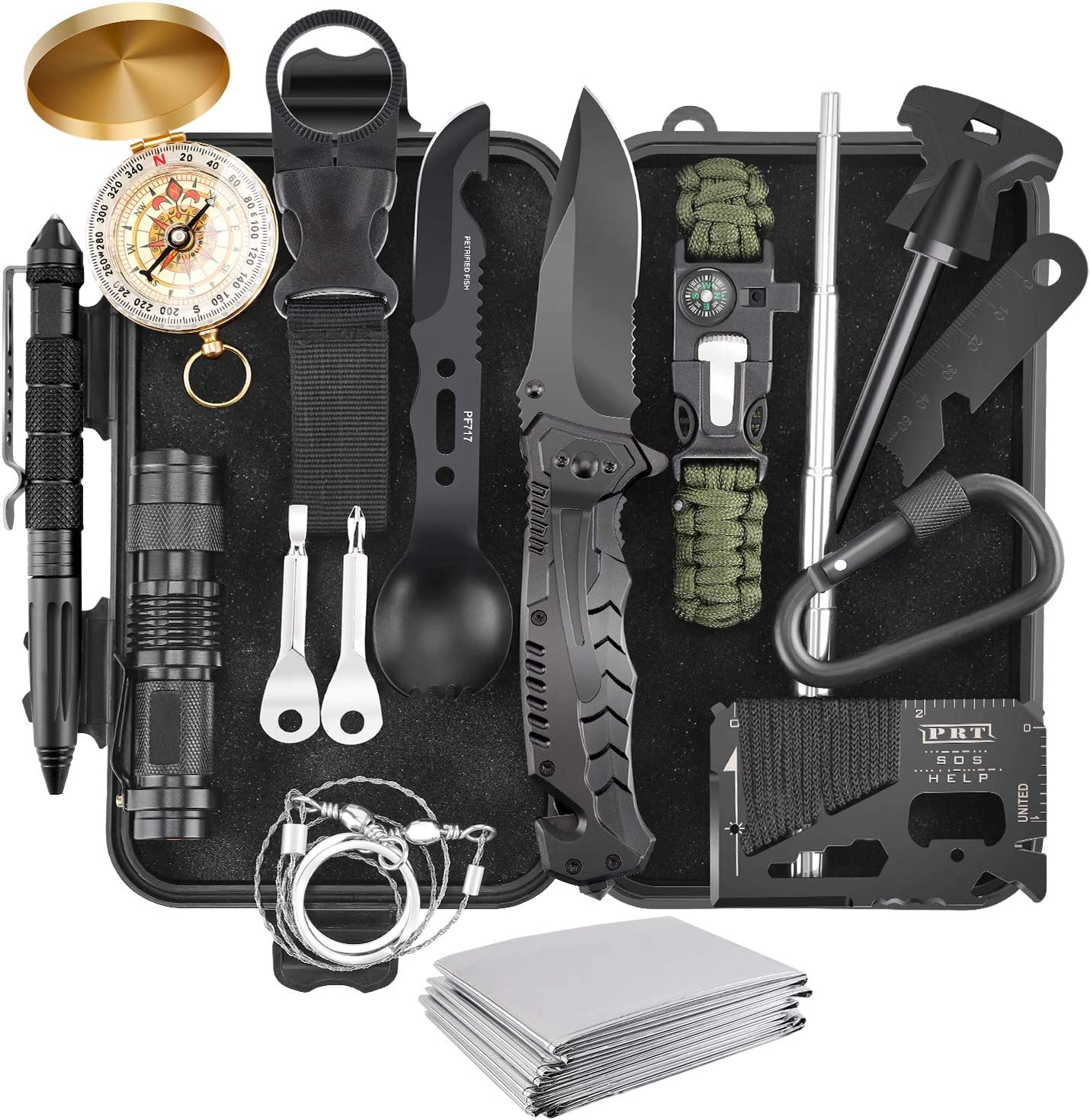 10 in 1 Survival Kit Emergency Tools Military Camping Tactical Outdoor Disaster