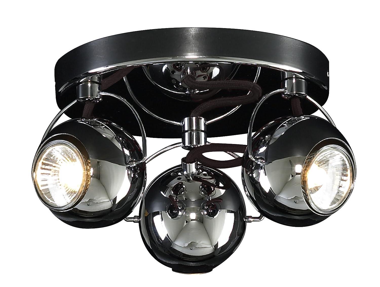 Retro LED Eyeball 3 Way Adjustable Ceiling Spotlight Light Fixture ...