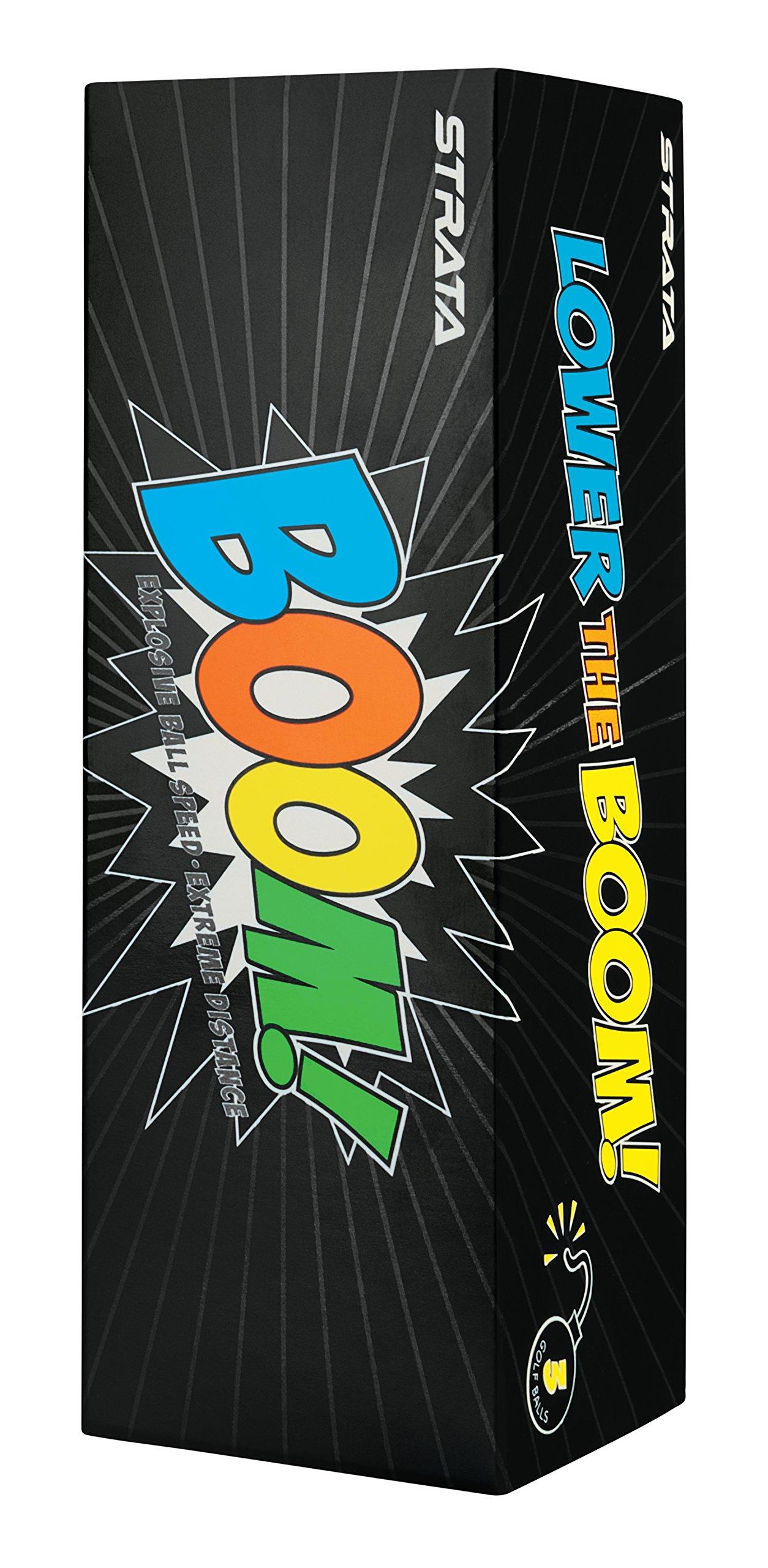 Strata Boom Golf Balls, (Two Dozen), Multi by Callaway