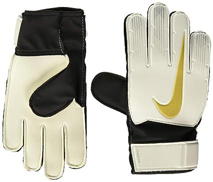 Nike GS0368 Soccer Gloves, Unisex niños, Blanco (blackmtlc Vivid Gold), 6