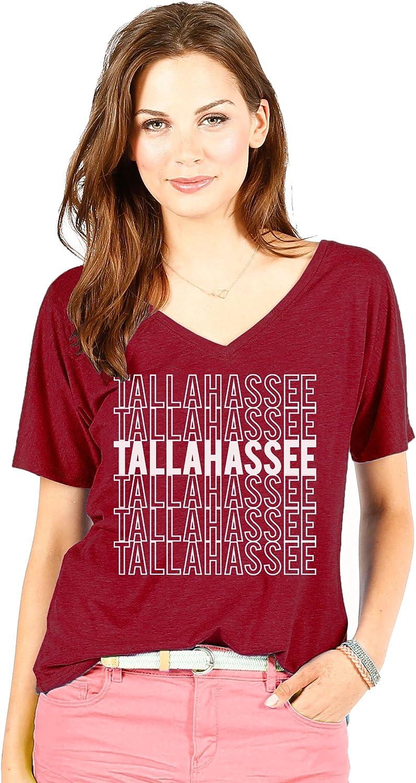 Wishbone NCAA Florida State Seminoles Women's Tallahassee Hometown Tee, Small, Maroon